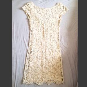 Wilfred Free Le Fou Crochet Cream Dress, XS